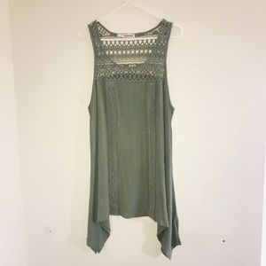 Maurices Sleeveless Blouse w/ Lace Detail